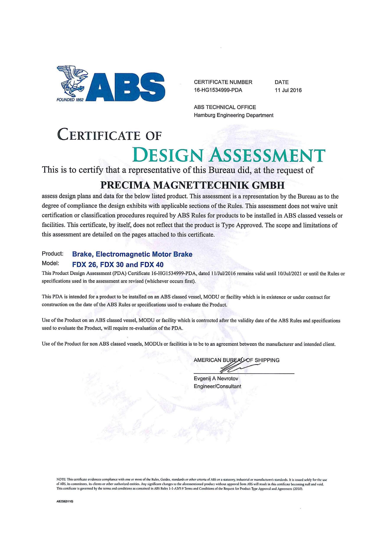 ABS für die FDX Bremsen in IP 67